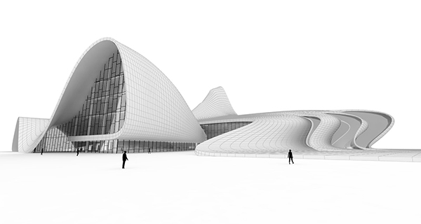 the Heydar Aliyev Centre by Zaha Hadid Architects
